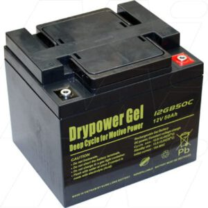 12V Sealed Lead Battery suitable for Golf Buggy, 50000mAh, Drypower, 12GB50C