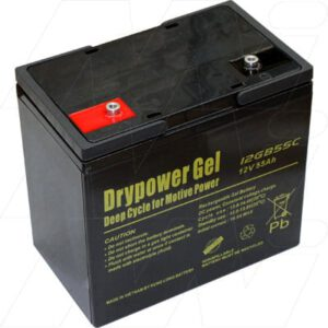 12V Sealed Lead Battery suitable for Golf Buggy, 55000mAh, Drypower, 12GB55C