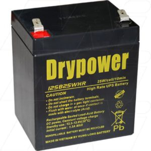 12V Sealed Lead Battery suitable for Compaq UPS Stand By Power Supply, 5000mAh, Drypower, 12SB25WHR