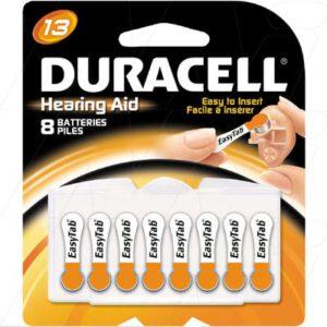 1.4V PR48 Hearing Aid Battery, 290mAh, Zinc Air, Duracell, 13HPX8