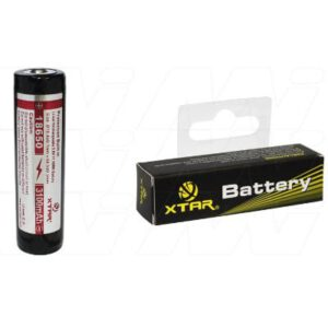 3.6V LiIon Battery suitable for Specialised Torch & Laser Sight, 3100mAh, XTAR, 18650-3100mAh-BP1