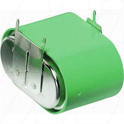 3.6V RBC Nickel Metal Hydride - NIMH Button / Coin Battery Pack, 140mAh, Varta, 3/V150H D+10mm S-