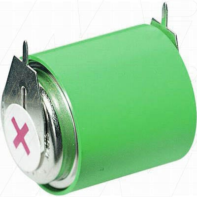 3.6V RBC Nickel Metal Hydride - NIMH Button / Coin Battery Pack, 70mAh, Varta, 3/V80H S+S-