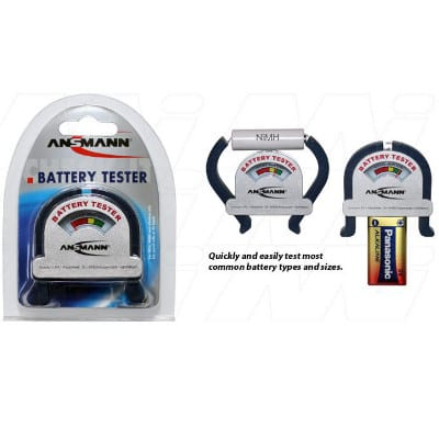 Ansmann 4000001 Battery Tester for Primary & Rechargeable Batteries, 4000001