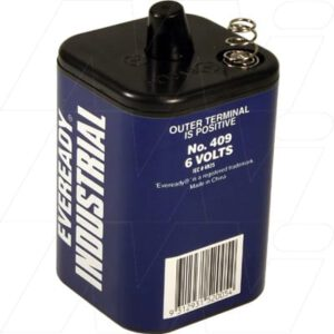 6V Carbon Zinc Heavy Duty Lantern Battery, Eveready, 409