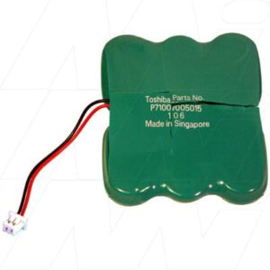 7.2V RBC Nickel Metal Hydride - NIMH Button / Coin Battery Pack, 140mAh, Mst, 6/V150H Laptop