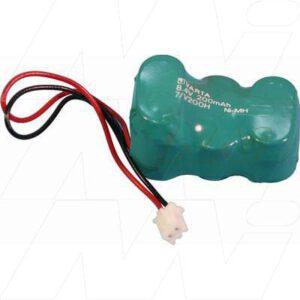 8.4V RBC Nickel Metal Hydride - NIMH Button / Coin Battery Pack, 200mAh, Varta, 7/V200H Security Alarm