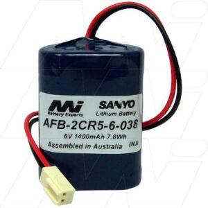 Lavatory Auto Flush Sensor Lavatory Battery 6V 1.4Ah Lithium Manganese Dioxide LiMnO2 AFB-2CR5-6-038