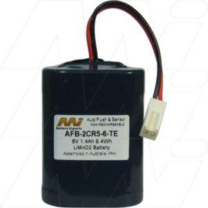 Lavatory Auto Flush Sensor Lavatory Battery 6V 1.4Ah Lithium Manganese Dioxide LiMnO2 AFB-2CR5-6-TE