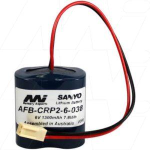 Lavatory Auto Flush Sensor Lavatory Battery 6V 1.3Ah Lithium Manganese Dioxide LiMnO2 AFB-CRP2-6-038