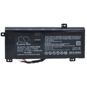 Dell Alienware 14D-1528 Laptop Notebook Battery 11.1V 6200mAh Li-Ion DEM140NB