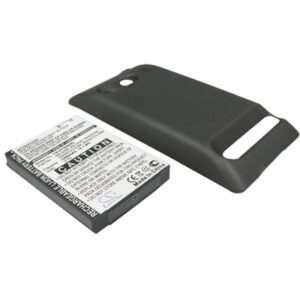 Sprint EVO 4G PDA / Pocket PC Battery, 2200mAh, Li-Ion, Extended with Black Colour Back Cover, HT9292XL