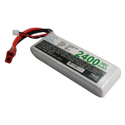 Airplane Remote Control Toy Batteries, 7.4V, 2400mAh, 2xLi-Polymer, LP2402C30RT