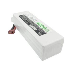 Airplane Remote Control Toy Batteries, 14.8V, 4000mAh, 4xLi-Polymer, LP4004C35RT