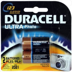 3V Lithium Battery replaces CR123A, EL123A, K123L, Duracell Ultra, DL123AB2