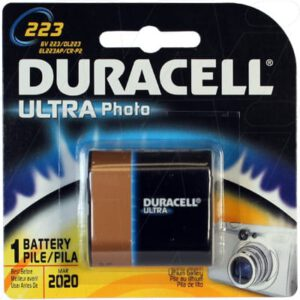 6V Lithium Battery replaces CRP2, Duracell Ultra, DL223AB