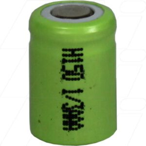 1.2V 1/3AAA Nickel Metal Hydride - NIMH Industrial Cylindrical Cell, 150mAh, Mst, H150-1/3AAA