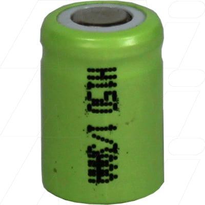 1.2V 1/3AAA Nickel Metal Hydride - NIMH Industrial Cylindrical Cell, 150mAh, Mst, H150-1/3AAA