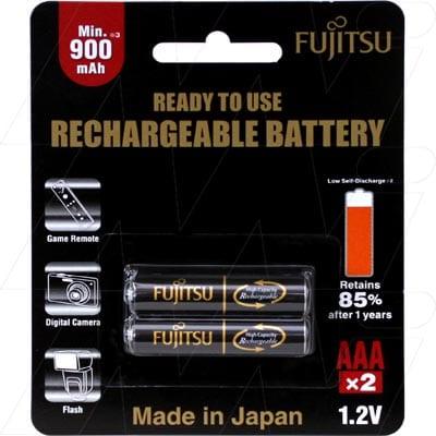 1.2V AAA 2 Pack NiMH Cylindrical Cell, Fujitsu, HR-4UTHB(2B)