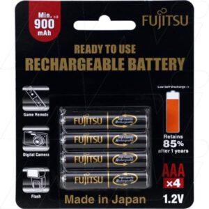 1.2V AAA 4 Pack NiMH Cylindrical Cell, Fujitsu, HR-4UTHB(4B)