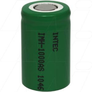 1.2V 2/3A Nickel Metal Hydride - NIMH Industrial Cylindrical Cell, 1Ah, Intec, IMH-1000AS
