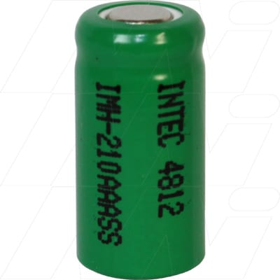 1.2V 1/2AAA Nickel Metal Hydride - NIMH Industrial Cylindrical Cell, 200mAh, Intec, IMH-210AAASS