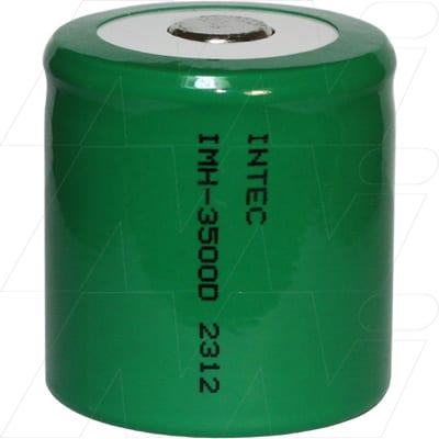 1.2V 1/2D Nickel Metal Hydride - NIMH Industrial Cylindrical Cell, 3.5Ah, Intec, IMH-3500D
