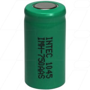 1.2V 2/3AA Nickel Metal Hydride - NIMH Industrial Cylindrical Cell, 750mAh, Intec, IMH-750AAS