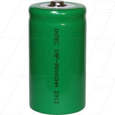 1.2V D Nickel Metal Hydride - NIMH Industrial High Power NiMH Raised Button Cylindrical Cell, 9Ah, Intec, IMP-9000D