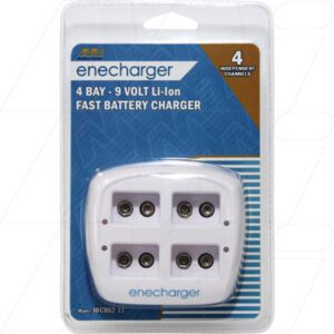 Lithium Ion & Lithium Ion Polymer Battery Charger Enecharger 100-240VAC Smart Charger 4xLi-Ion 9V batts, Enecharger, JBC002-11