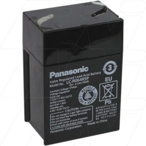 Datex SO O2 Medical Battery, 6V, 4500mAh, SLA, Panasonic, LC-R064R5P