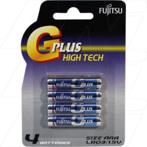 1.5V AAA 4 Pack Digital Camera Battery, Fujitsu, LR03GP/BP4