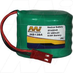 Baxter Health Care Drager D-Vapor Desflurane Anesthetic Vaporizer Medical Battery, 6V, 450mAh, NiMH, Mst, MB139A