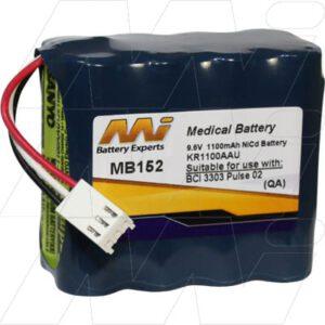9.6V BCI Pulse Oximeter 3303 MB152 Battery