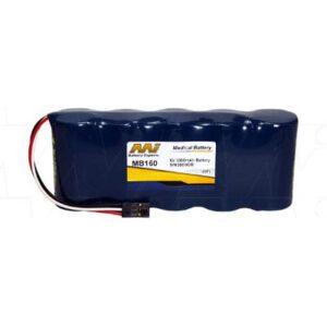 Biochem 6004 Mini-Torr Plus Non-Invasive Blood Pressure Monitor Medical Battery, 6V, 3000mAh, NiCd, Mst, MB160