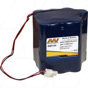 24V Cardioline Delta 60 Plus ECG MB196 Battery