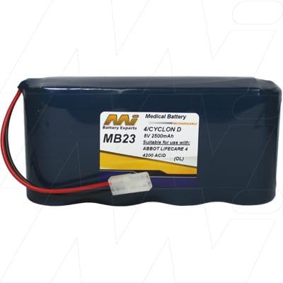 Baxter Health Care / Travenol Flo Gard 2100 Medical Battery, 8V, 2500mAh, SLT, Mst, MB23