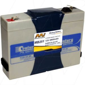 Dinamap 8100 Medical Battery, 12V, 2800mAh, SLA, Mst, MB251