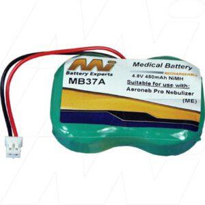 Aerogen Aeroneb Pro Nebulizer Medical Battery, 4.8V, 450mAh, NiMH, Mst, MB37A
