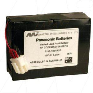 12V HP HP1758A Defib 2/LC-R064R5P MB390 Battery