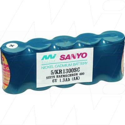 Medical Systems Intl Corp  SAO2 5000 Pulsemeter Medical Battery, 6V, 1300mAh, NiCd, Mst, MB426