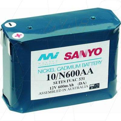 Touitu Foetal Monitor Medical Battery, 12V, 600mAh, NiCd, Mst, MB439