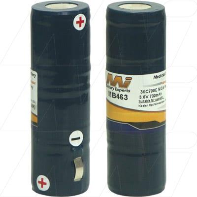 Keeler Opthalmascope Medical Battery, 3.6V, 700mAh, NiCd, Mst, MB463