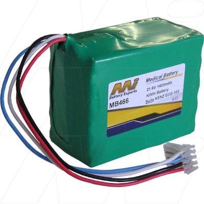 Kenz ECG-103 Medical Battery, 21.6V, 1400mAh, NiMH, Mst, MB466