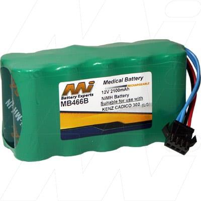Kenz Cardico 302 Medical Battery, 12V, 2100mAh, NiMH, Mst, MB466B