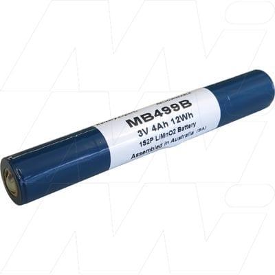 Laryngoscope Non Magnetic MRI Small handle Medical Battery 3V 4000mAh Lithium Manganese Dioxide LiMnO1 MB499B