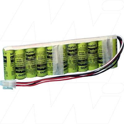 Marquette Solar 9500 Medical Battery, 13.2V, 1400mAh, NiCd, Mst, MB533A