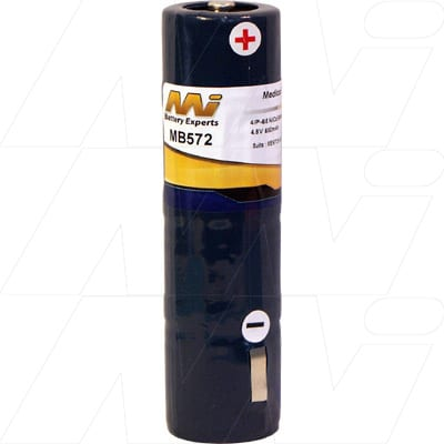 Mentor Brightness Acuity Tester Medical Battery, 4.8V, 650mAh, NiCd, Mst, MB572