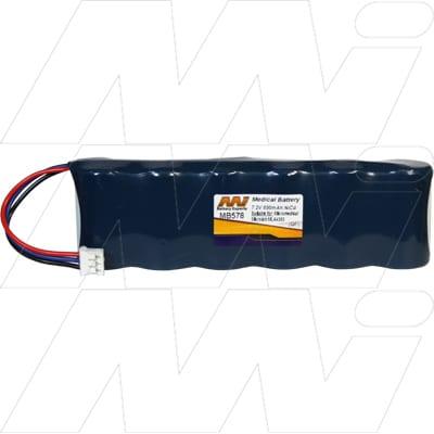 Micromedical Microlab ML3300 spirometer Mk4 (Serial No:9000+) Medical Battery, 7.2V, 600mAh, NiCd, Mst, MB578