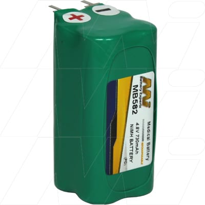 Nascor Fiona Oxygen Analyser Medical Battery, 4.8V, 730mAh, NiMH, Mst, MB582